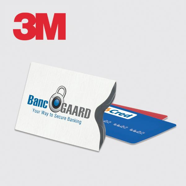 3m custom printed data card and credit card protection sleeve colourmoves