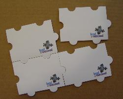 Puzzle shape post-it sticky notes